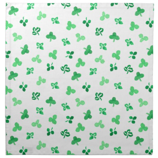 Dinner cloth napkins with clover leaves