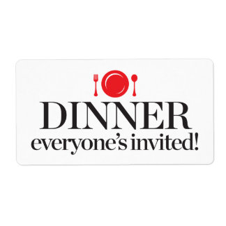 Dinner Everyone's Invited Shipping Label