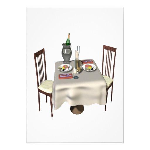 Dinner For Two Custom Invitations