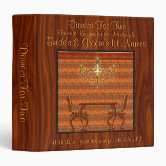 Dinner For Two (Personalized Recipe Book) 3 Ring Binder