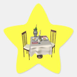 Dinner For Two Star Sticker