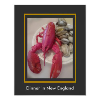 Dinner in New England - Lobster Feed - Lobstah Poster