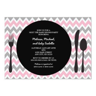 Dinner Party Invite / meet the baby girl shower