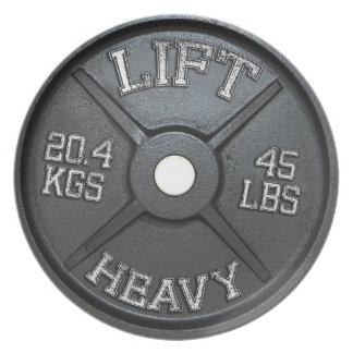 Dinner Plate - 45 lbs Plate - Lift Heavy