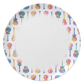 DINNER PLATE - GUITAR REFLECTIONS