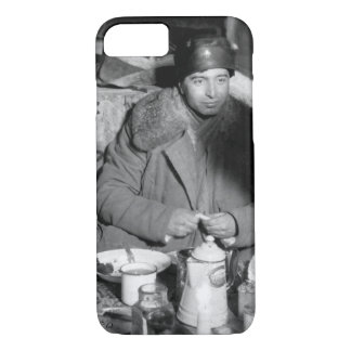 Dinner served in a box car _War Image iPhone 7 Case