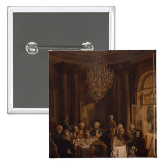 Dinner Table at Sanssouci, 1850 2 Inch Square Button