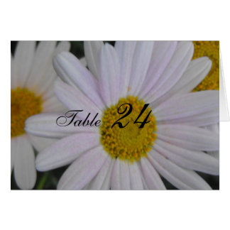 dinner table guests card, daisy flower note card