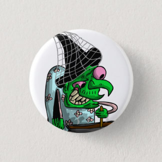 Dinnerlady Witch 1 Inch Round Button