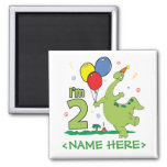 Dino 2nd Birthday Fridge Magnet