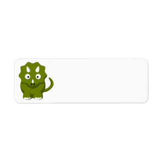 dino-306331 BABY GREEN DINOSAUR CARTOON  dino dino Custom Return Address Labels