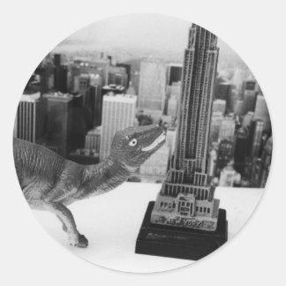 Dino Attacks NYC Stickers