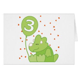 Dino Baby 3rd Birthday Invitation