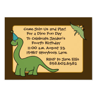 DINO Birthday Party Invitations