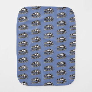 DINO - Blue Grey Burp Cloth