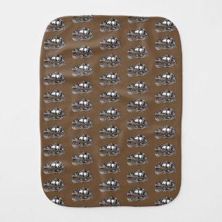 DINO - Brown Burp Cloth