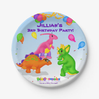 Dino-Buddies™ Paper Cup – Dino-Buddies Dance Party Paper Plate