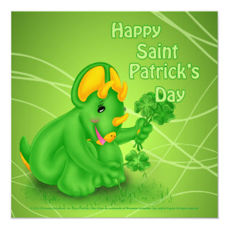Dino-Buddies™ St. Patrick's Day Invitation - Trey™