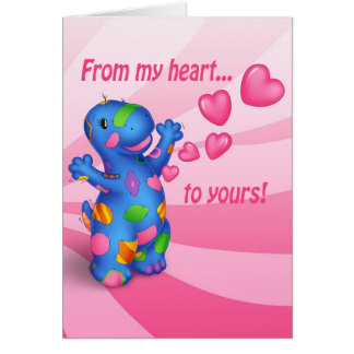 Dino-Buddies® Valentines Day Card - Patches™ Heart