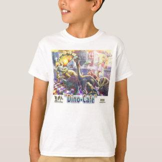 Dino Cafe Dinosaur lunch Line T-Shirt