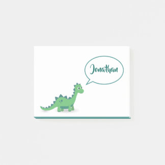 Dino calling kids name post it notes. post-it notes