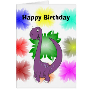 Dino Card, Standard white envelopes included Card