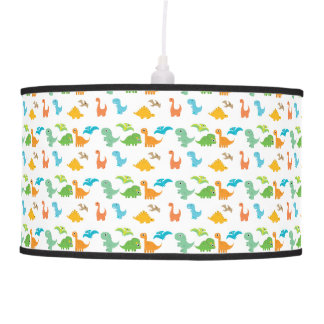 Dino Dinosaur Colorful Lizard T-rex Nursery Decor Pendant Lamp