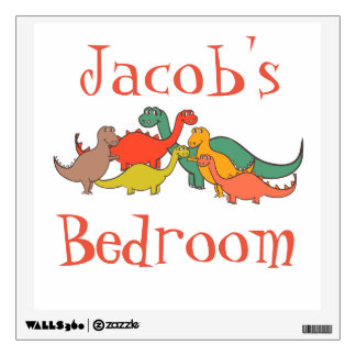 Dino Dinosaur Colorful Lizard T-rex Nursery Decor Wall Sticker