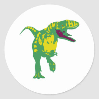Dino dinosaur dinosaur dinosaur T Rex Classic Round Sticker