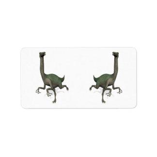 Dino Dinosaur Gallimimus Personalized Address Label