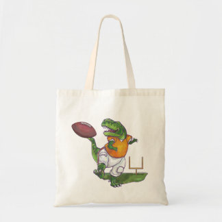 Dino Football Player Tote Bag