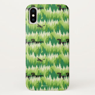Dino Forest Pattern iPhone X Case