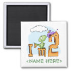 Dino Fun 2nd Birthday Magnet