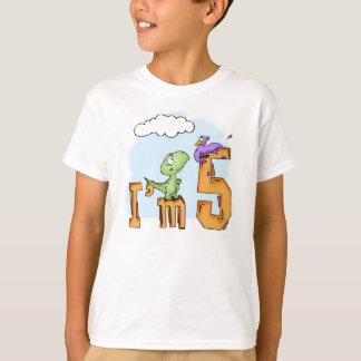 Dino Fun 5th Birthday T-Shirt