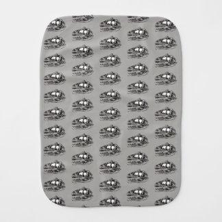 DINO - Grey Burp Cloth