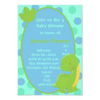 dino, Join us for aBaby Shower, In honor of, Je... Card