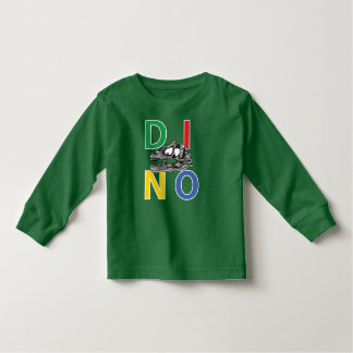 DINO - Kelly Green Toddler Long Sleeve T-Shirt