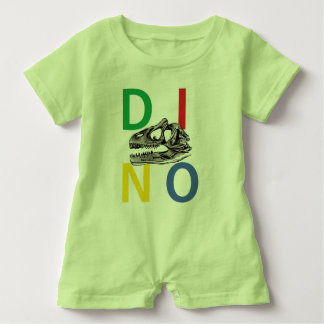 DINO - Key Lime Green Baby Romper