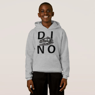 DINO - Light Steel Kids' Hanes ComfortBlend® Hoodi
