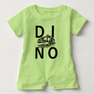 DINO - Lime Green Baby Romper