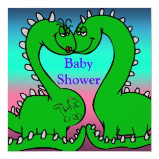 Dino Love Baby Shower Card