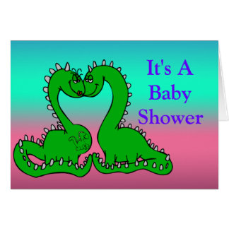 Dino Love Baby Shower Note Card