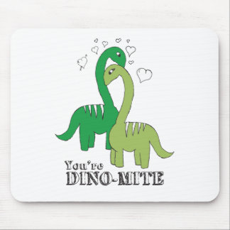 Dino Love Mouse Pad