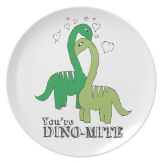 Dino Love Party Plates