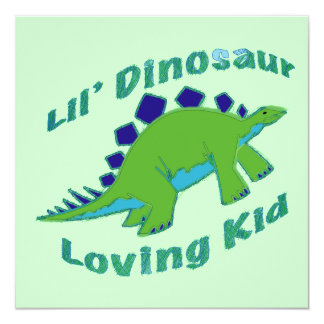 Dino Loving Kid Card