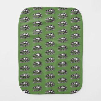 DINO - Moss Green Burp Cloth