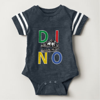 DINO - Navy Blue Baby Football Bodysuit