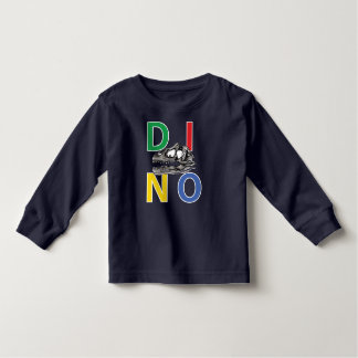 DINO - Navy Blue Toddler Long Sleeve T-Shirt