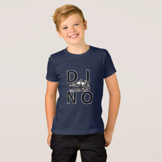 DINO - Navy Kids' American Apparel Fine Jersey T-S T-Shirt