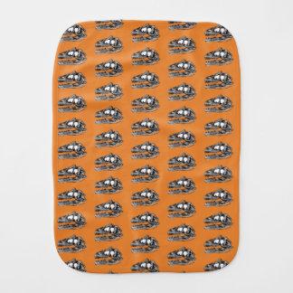 DINO - Orange Burp Cloth